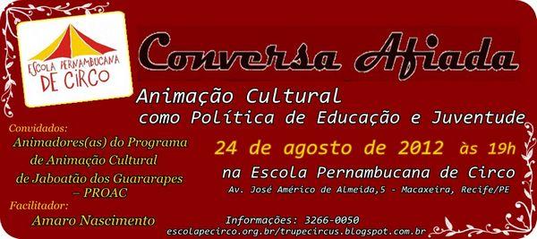 Centro Circo da Juventude (CCJ) apresenta Conversa Afiada
