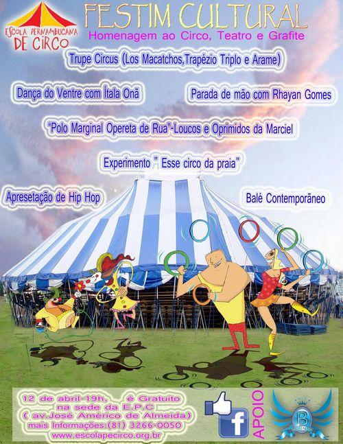 Festim Cultural homenageia o Circo, Teatro e Grafite