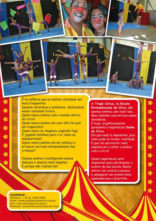 """EPC - Campanha """"Sonho de Circo"""" nas escolas"""